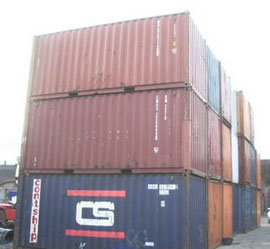 Brighton double doors container